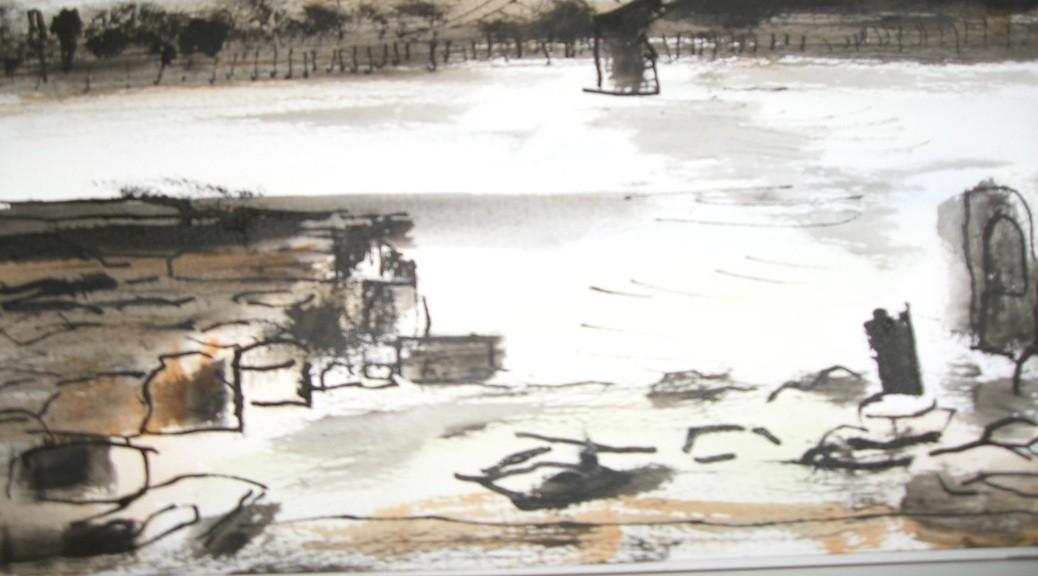 Low tide looking towards Tate Modern